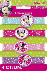 Bracelet élastique de Minnie Mouse 4 par paquet