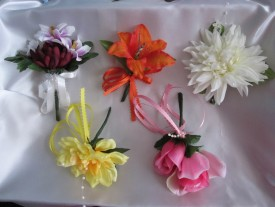1and 2 Flower Boutonniere