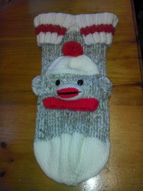 Sock Monkey Baby Cocoon and Hat
