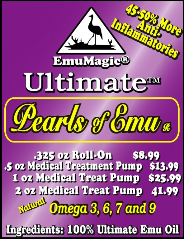Pearls of Emu Oil