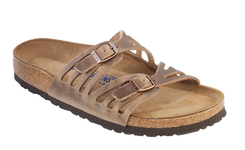 Birkenstock Granada Soft Footbed Tobacco Oiled Leather By