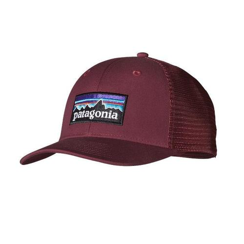 Patagonia P 6 Logo Trucker Hat Oxblood Red By