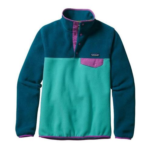Patagonia w lightweight synchilla snap t pullover howling turquoise by