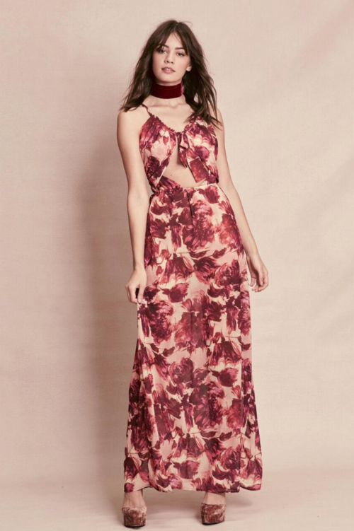 floral print dress - Pink & Purple For Love & Lemons Mu8SkzueF
