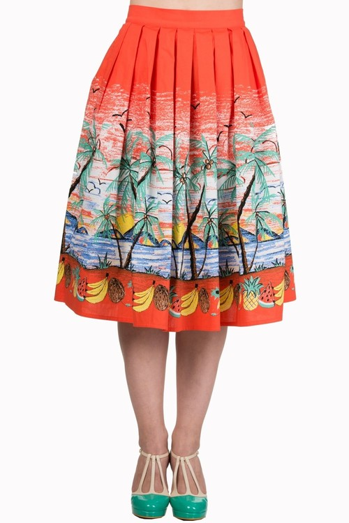 Banned Apparel Palm Springs Skirt By Banned Rosie The