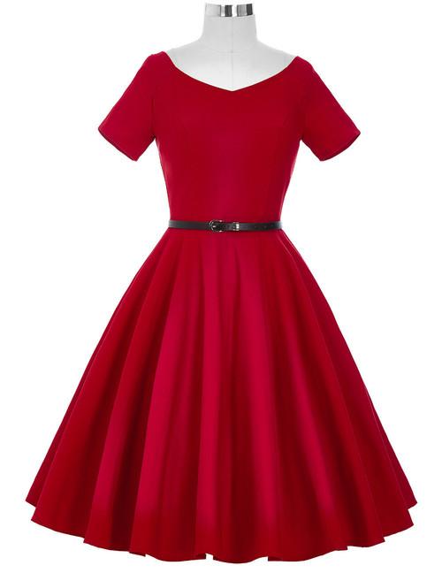 Doris Day Dress In Red Rosie The Rebel Canada Retro