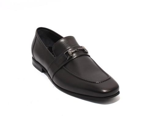 New in Box Roberto Serpentini Marrone Leather Slip On 27256