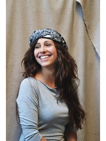 Black and white animal print braided headband