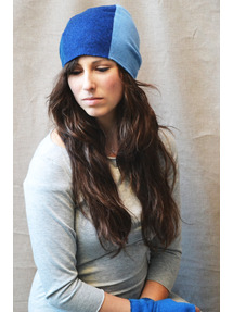 royal blue recycled cashmere hat