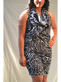 zebra prinit tube dress