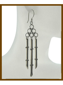 bamboo sterling silver earring