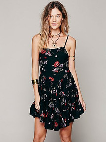 Circle of Flowers Slip Dress