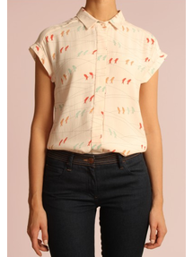 Light My Colombe Bird Blouse