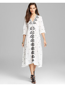 Embroidered Ivory Dress