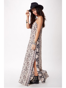 Silk Tapestry Maxi Dress