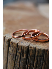 Hammered Copper Rings