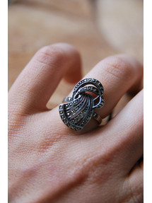 Vintage Art Deco Marcasite Ring