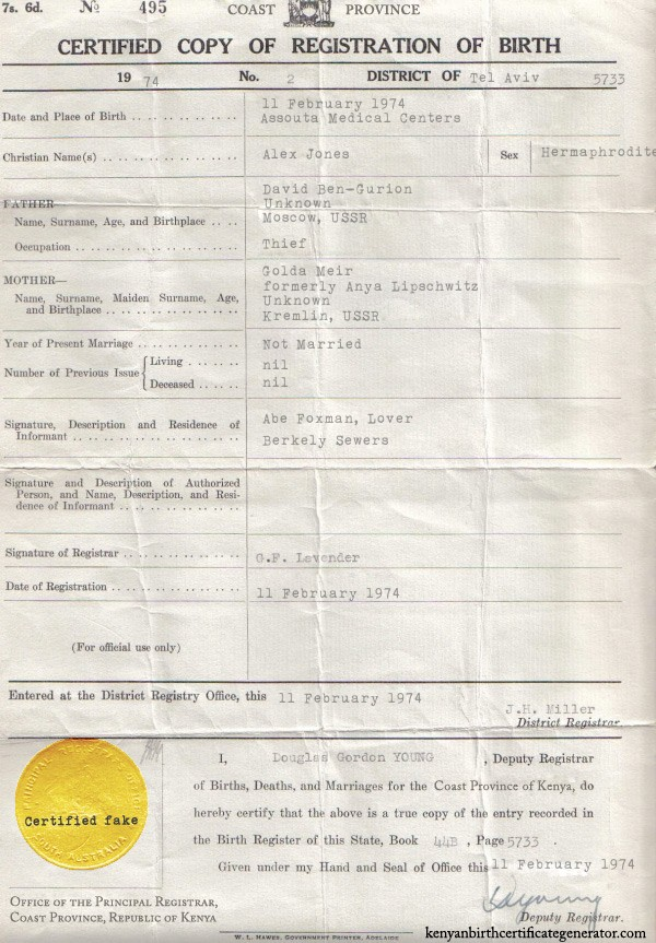 The Truth Will Set You Free Alex Jones Kenyan Birth Certificate
