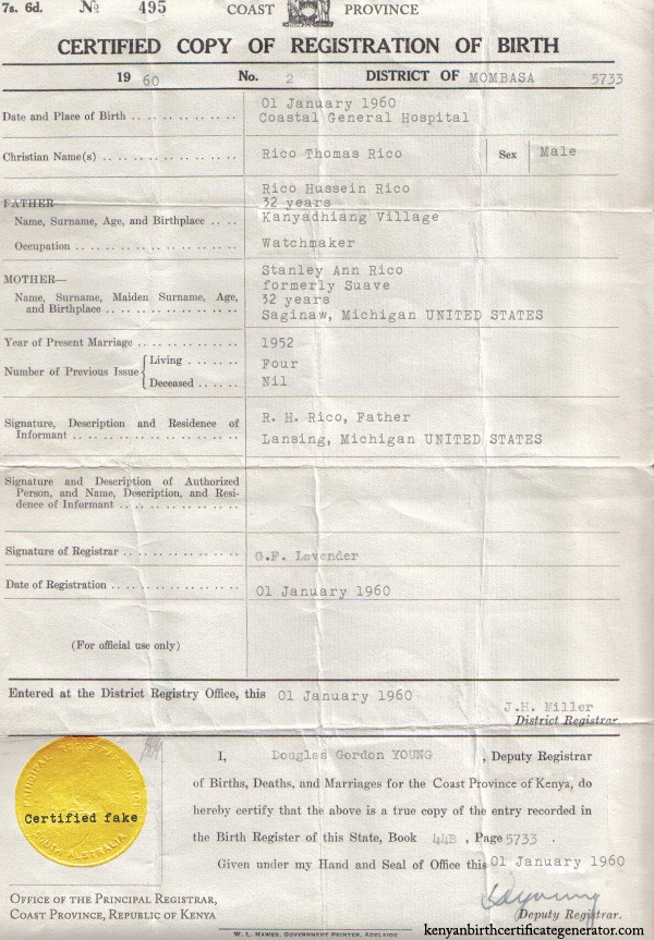Rico Thomas Rico Rtr Scandal Kenyan Birth Certificate Revealed