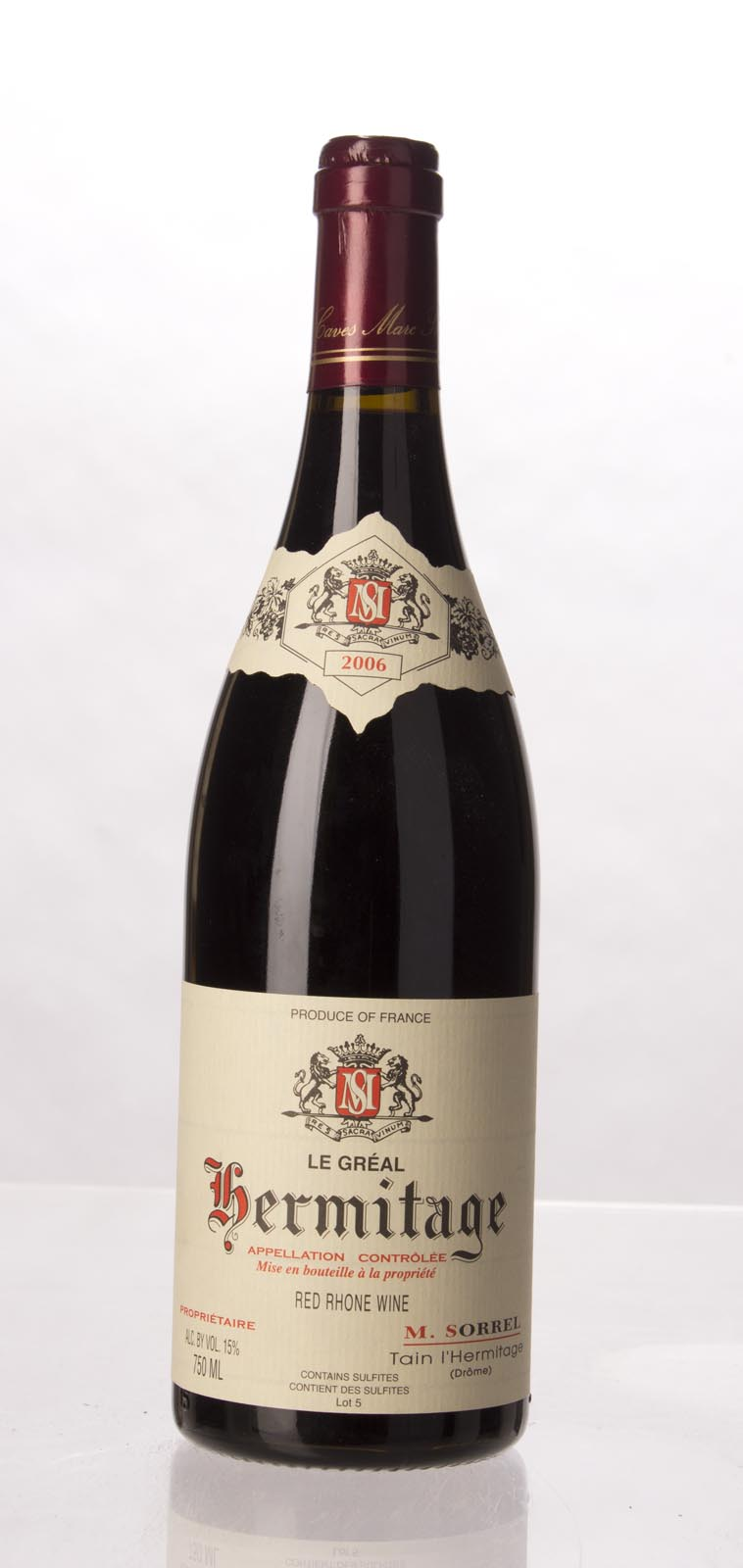M. Sorrel Hermitage le Greal 2006, 750mL (WA95, ST94) from The BPW - Merchants of rare and fine wines.