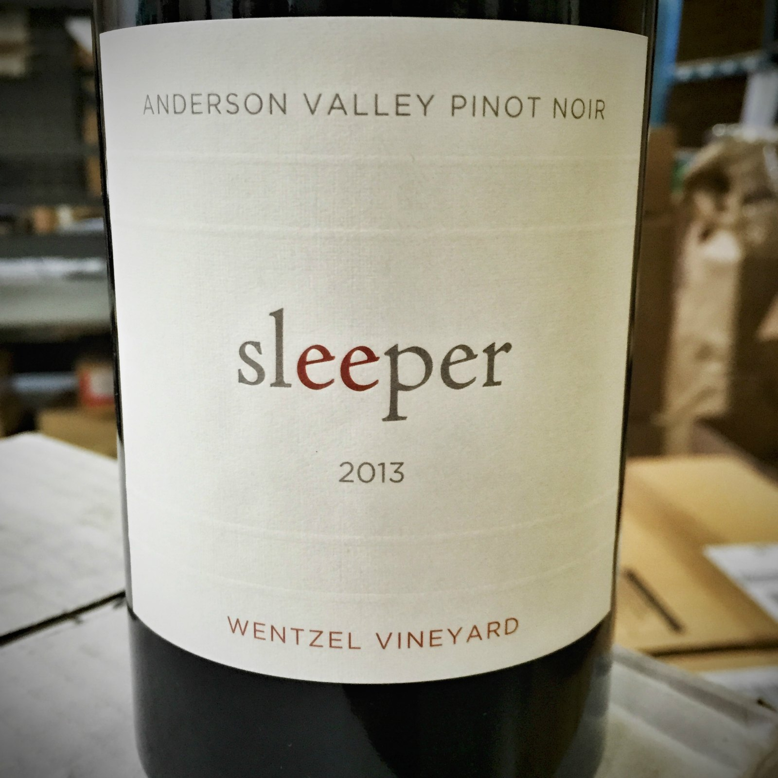 Sleeper Pinot Noir Wentzel Vineyard 2013, 750ml () from The BPW - Merchants of rare and fine wines.