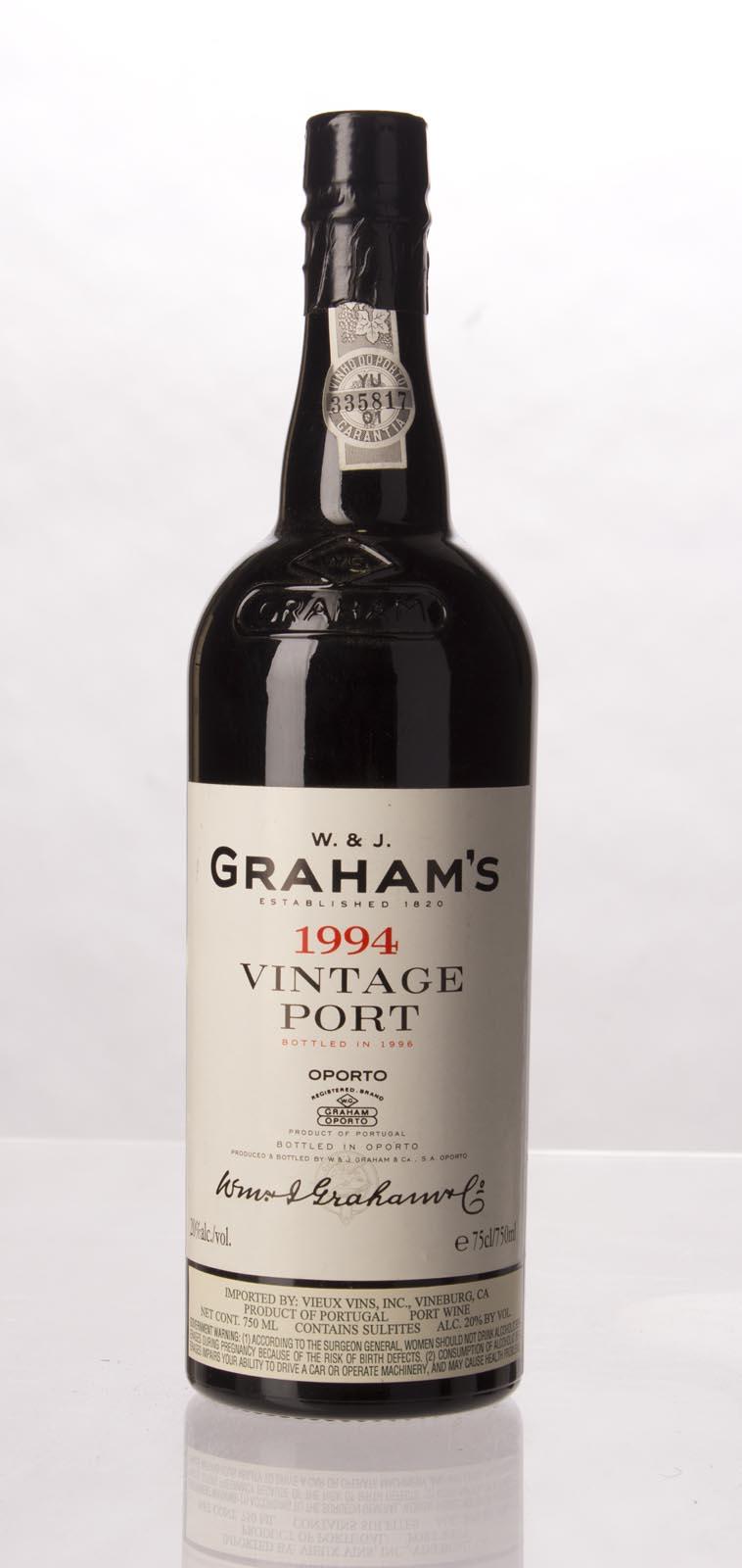 1994 W & J Grahams Vintage Port,