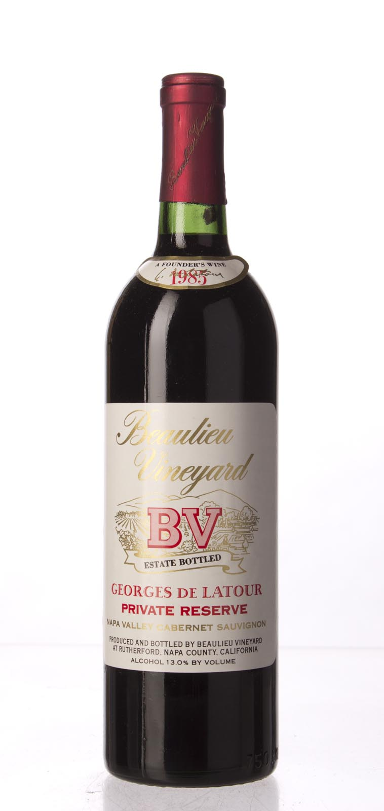 Beaulieu Vineyard Cabernet Sauvignon Private Reserve Georges de Latour 1985, 750mL (WS95) from The BPW - Merchants of rare and fine wines.