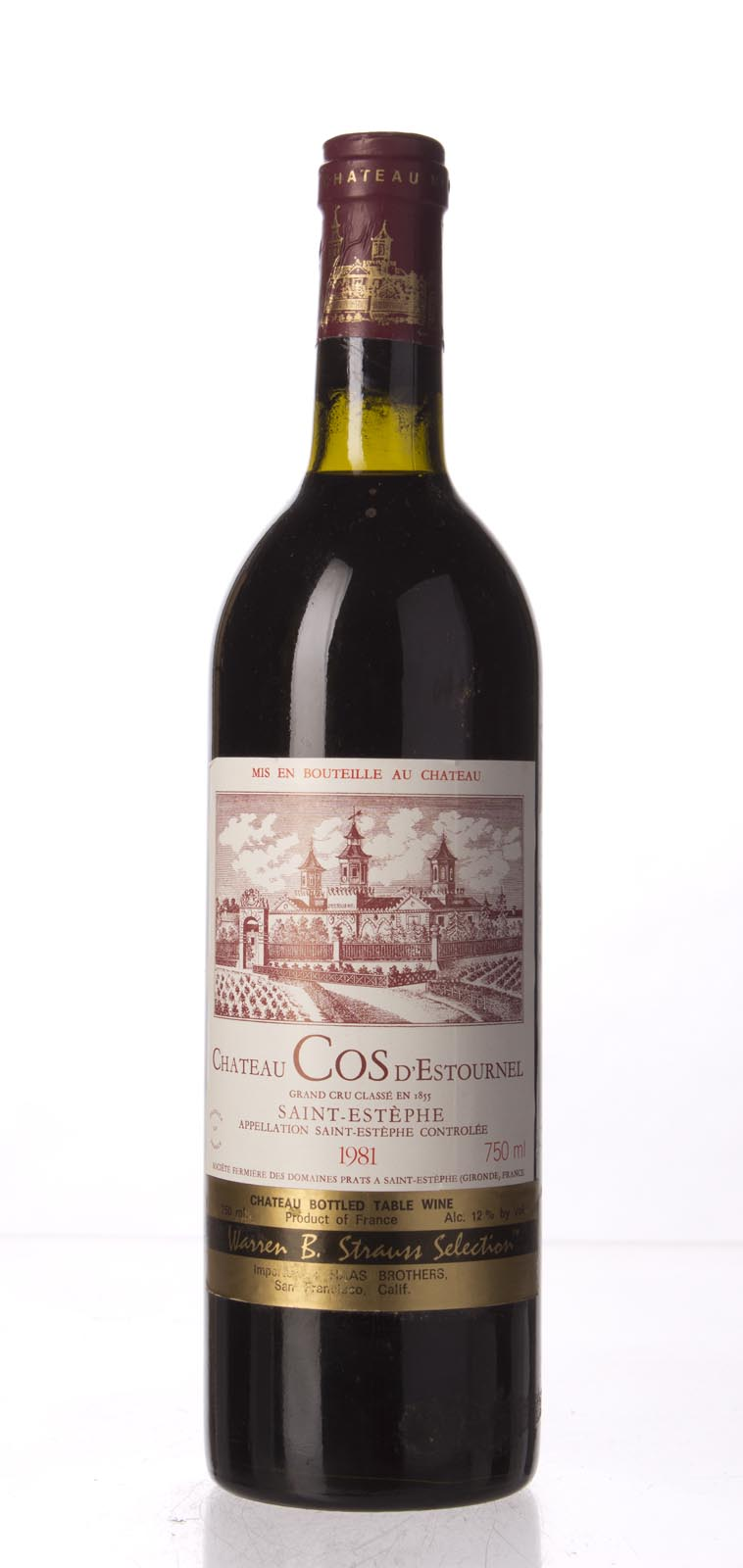 Cos d`Estournel 1981, 750mL () from The BPW - Merchants of rare and fine wines.