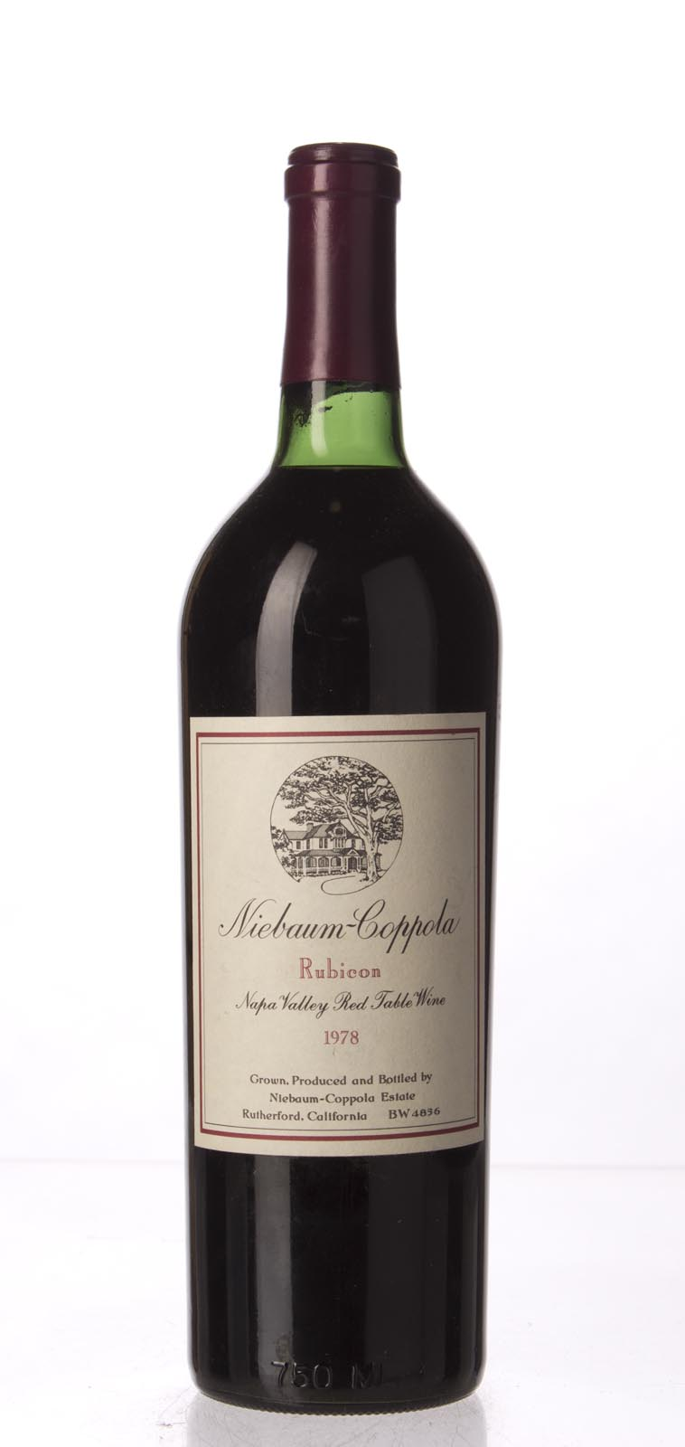 Niebaum Coppola Proprietary Red Rubicon 1978, 750mL (WS88) from The BPW - Merchants of rare and fine wines.