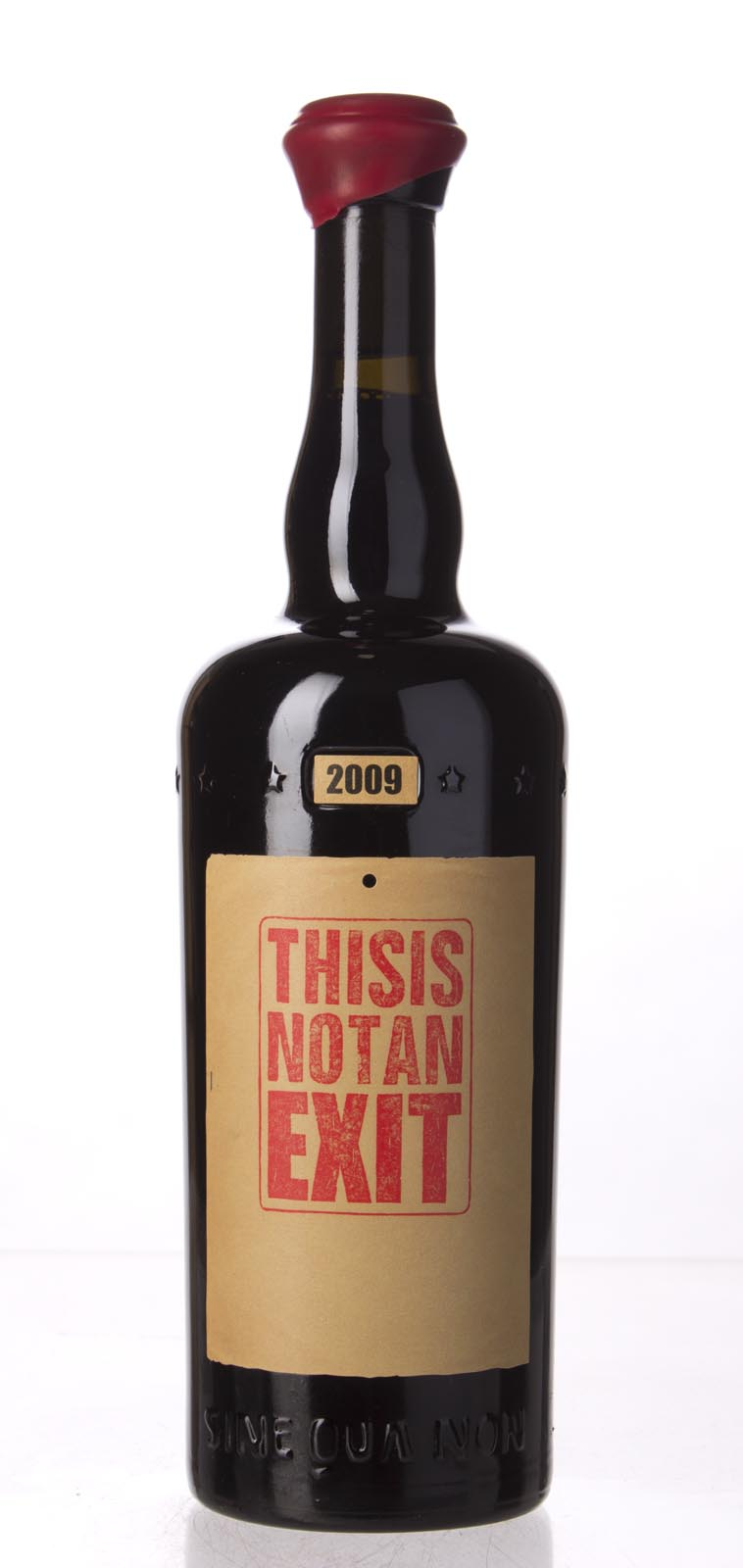 Sine Qua Non Syrah This Is Not an Exit Eleven Confessions Vineyard 2009, 750mL (AG94+?, WA97, ST95) from The BPW - Merchants of rare and fine wines.