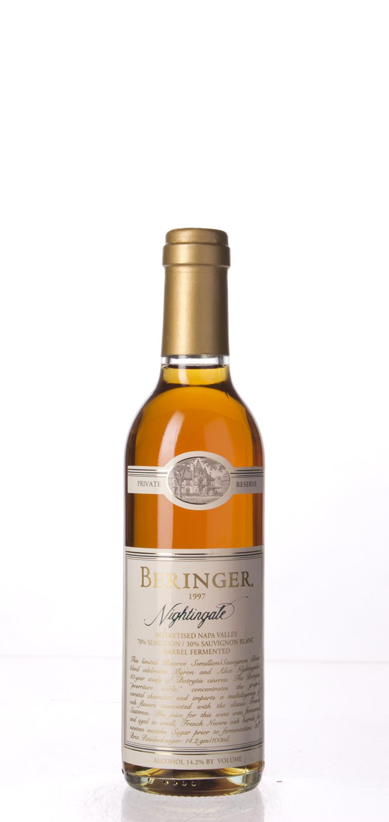 Beringer Nightingale Botrytised White Private Reserve 1997, 375ml (WA91, ST90, WS92) from The BPW - Merchants of rare and fine wines.