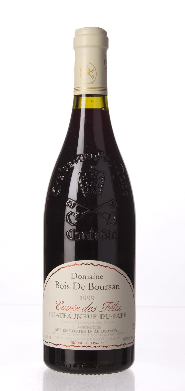 Bois de Boursan Chateauneuf du Pape Cuvee des Felix 1999, 750mL (WA93) from The BPW - Merchants of rare and fine wines.