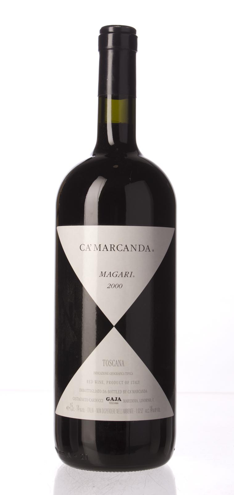 Ca`Marcanda (Gaja) Magari IGT 2000, 1.5L (WA93, ST92) from The BPW - Merchants of rare and fine wines.