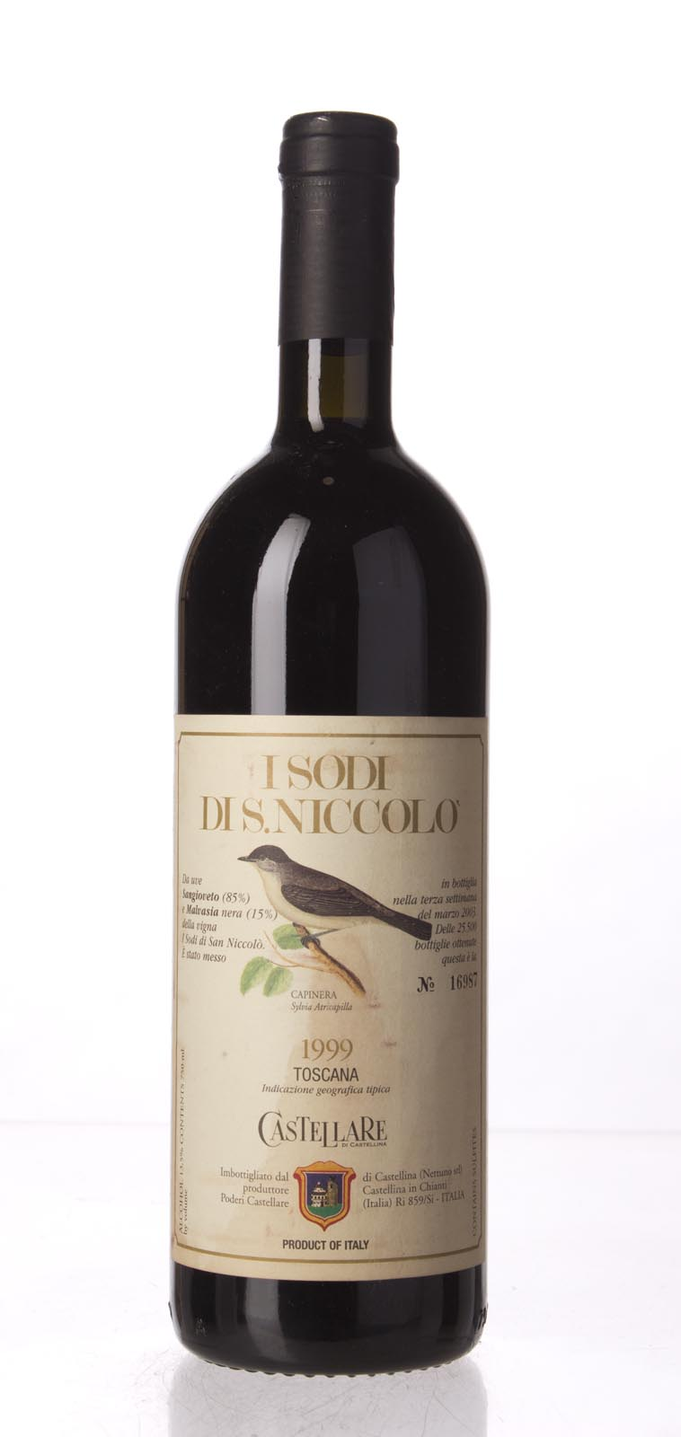 Castellare di Castellina I Sodi di San Niccolo 1999, 750mL (AG96+, WA96+) from The BPW - Merchants of rare and fine wines.