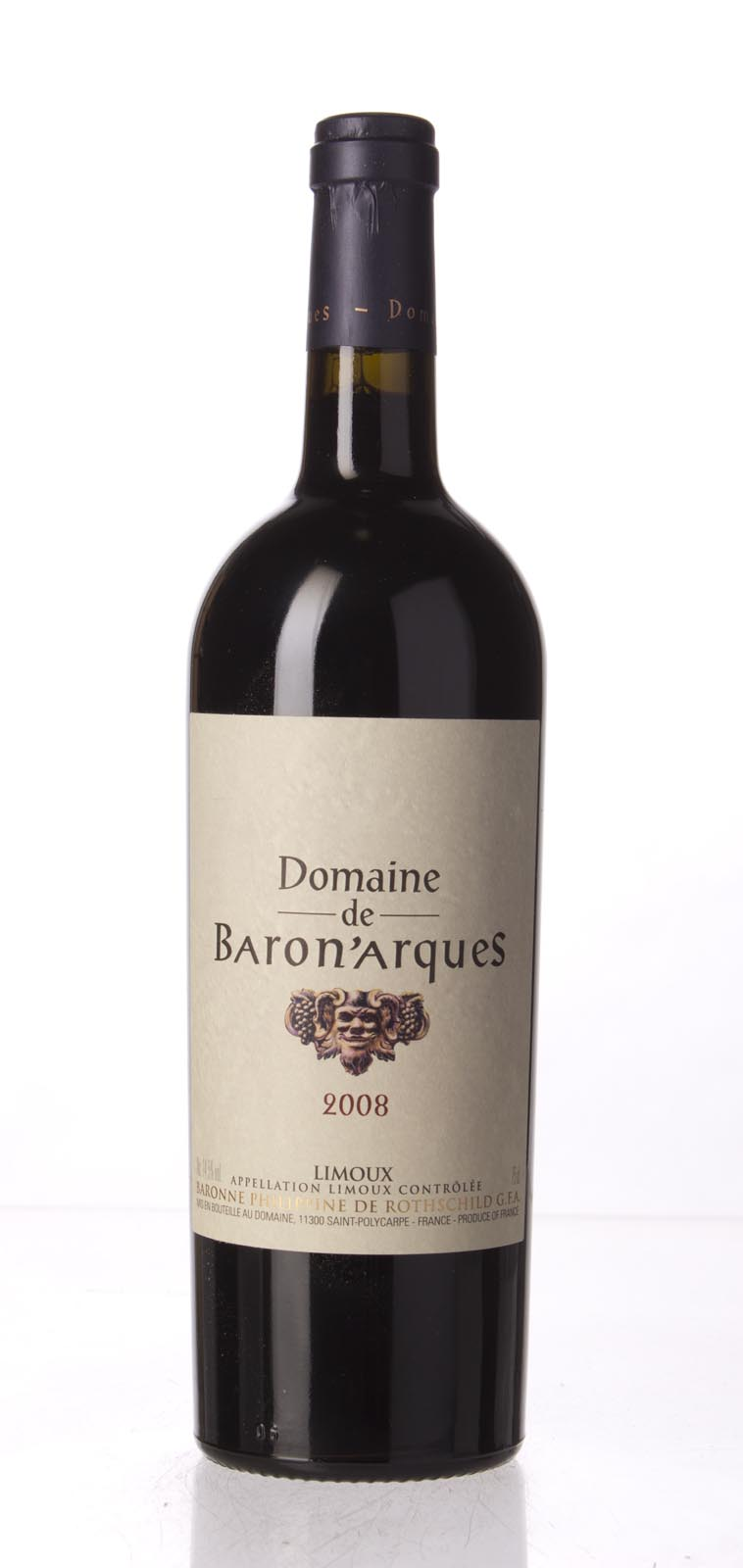 Domaine Baron`Arques (Philippine de Rothschild) Limoux Rouge 2008,  () from The BPW - Merchants of rare and fine wines.
