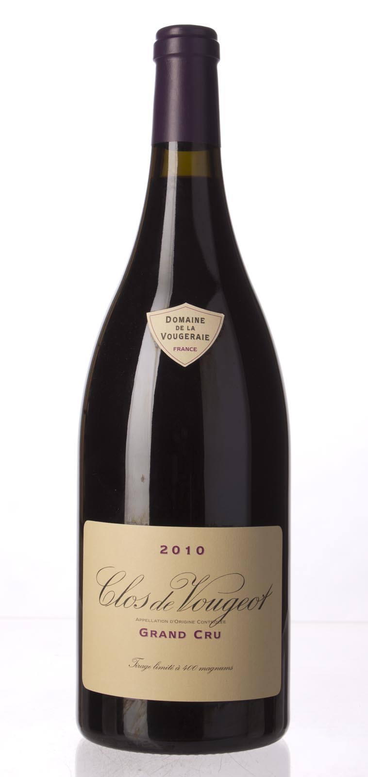 Domaine de la Vougeraie Clos Vougeot 2010, 1.5L (BH93, WA93-95, ST92, WS93) from The BPW - Merchants of rare and fine wines.