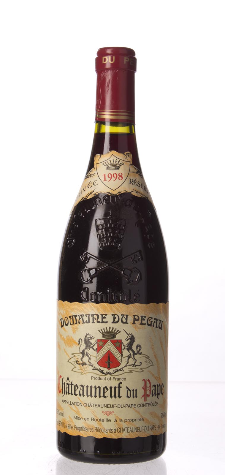 Domaine du Pegau Chateauneuf du Pape Cuvee Reservee 1998, 750mL (WS96) from The BPW - Merchants of rare and fine wines.