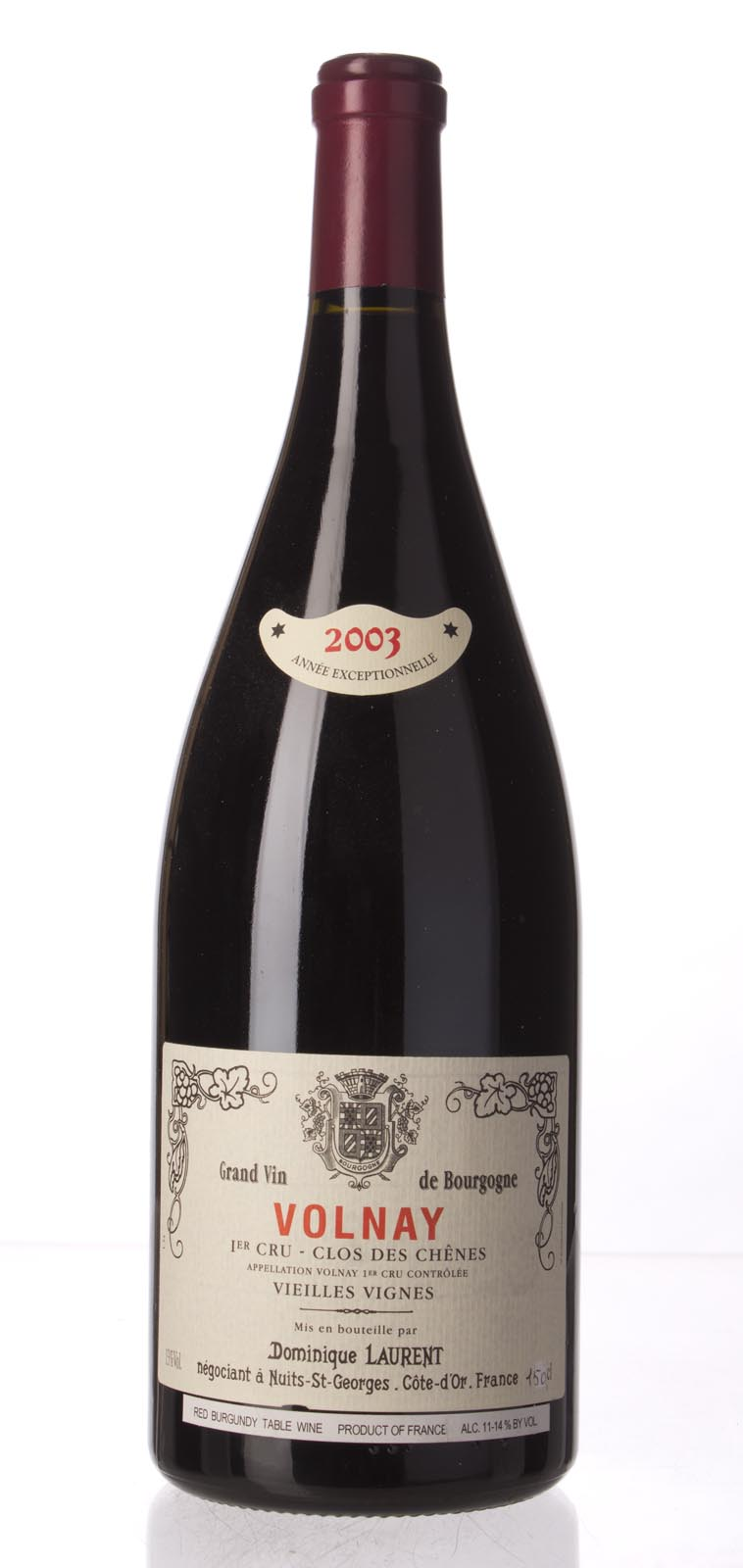 Dominique Laurent Volnay Clos des Chenes 2003, 1.5L () from The BPW - Merchants of rare and fine wines.