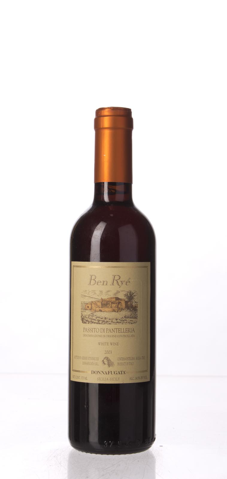 Donnafugata Moscato di Pantelleria Passito `Ben Rye` 2003, 375mL () from The BPW - Merchants of rare and fine wines.