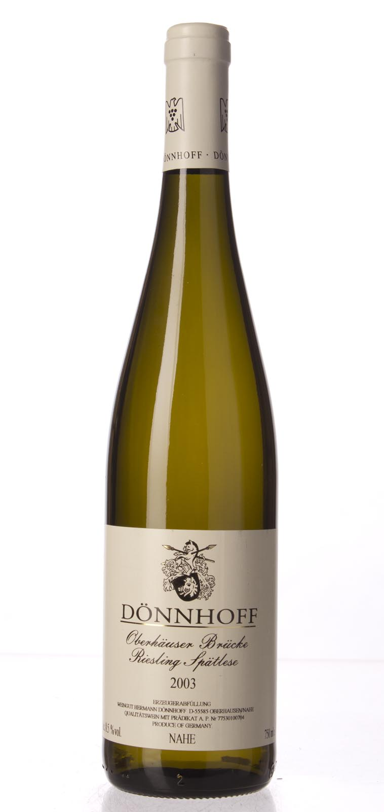Hermann Donnhoff Oberhauser Brucke Riesling Spatlese 2003,  (ST90) from The BPW - Merchants of rare and fine wines.