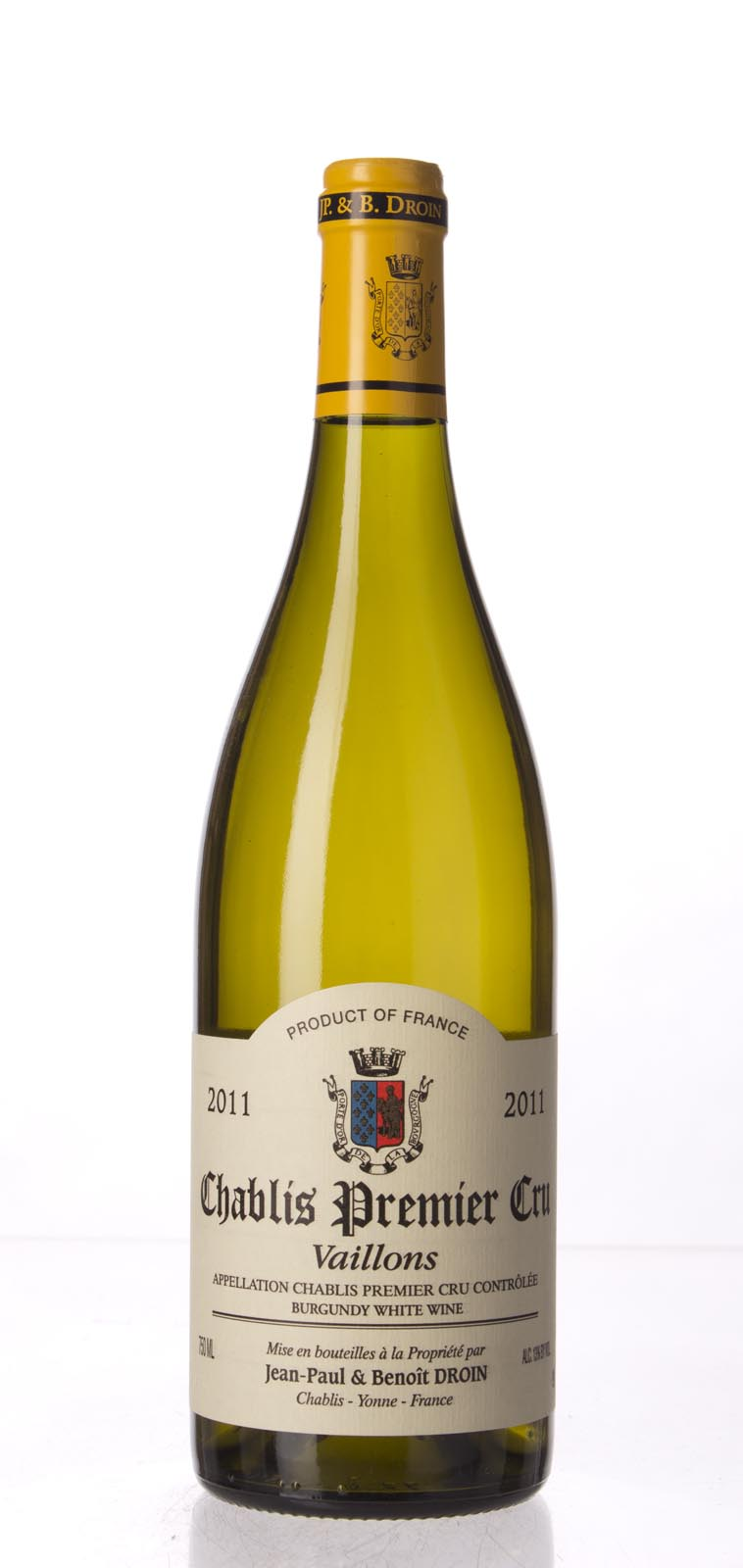 Jean Paul Droin Chablis Vaillons 2011, 750mL (WA91) from The BPW - Merchants of rare and fine wines.