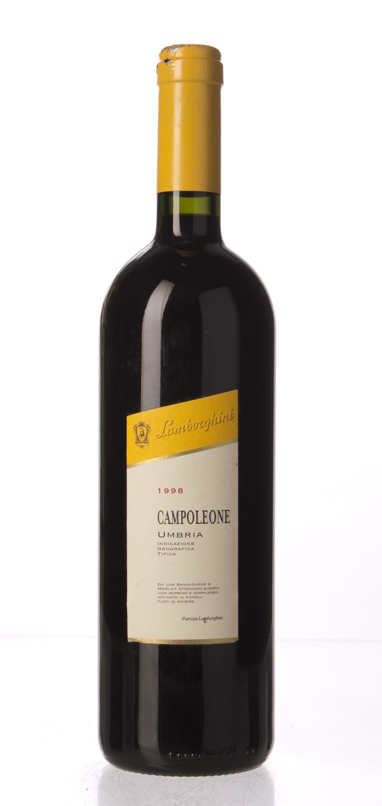 Lamborghini (La Fiorita) Campoleone 1998, 750mL (WA91, WS91) from The BPW - Merchants of rare and fine wines.