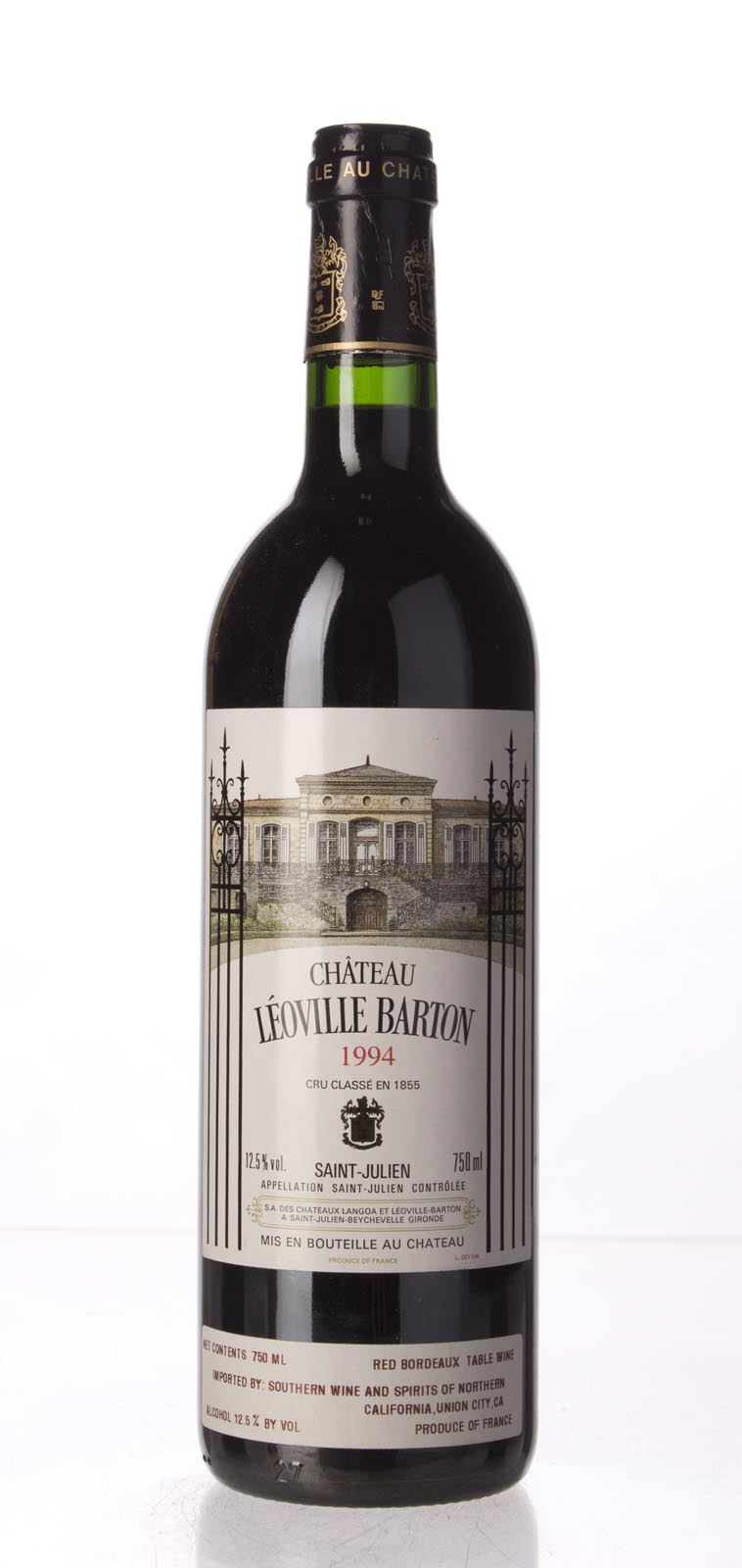 Leoville Barton 1994, 750mL (WA90) from The BPW - Merchants of rare and fine wines.