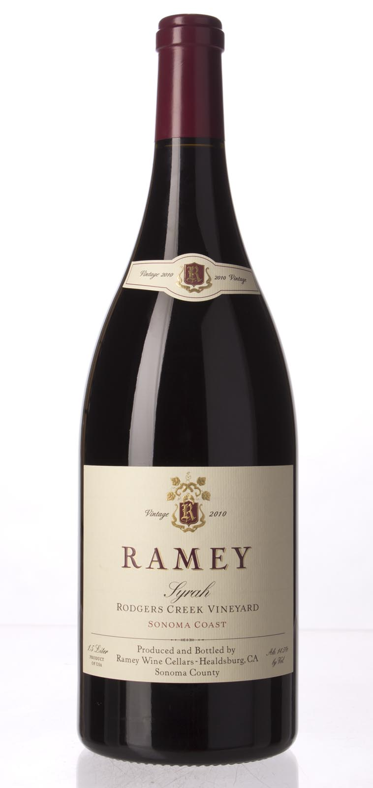 Ramey Syrah Rodger`s Creek Vineyard 2010, 1.5L (AG95, WA95, ST93+) from The BPW - Merchants of rare and fine wines.
