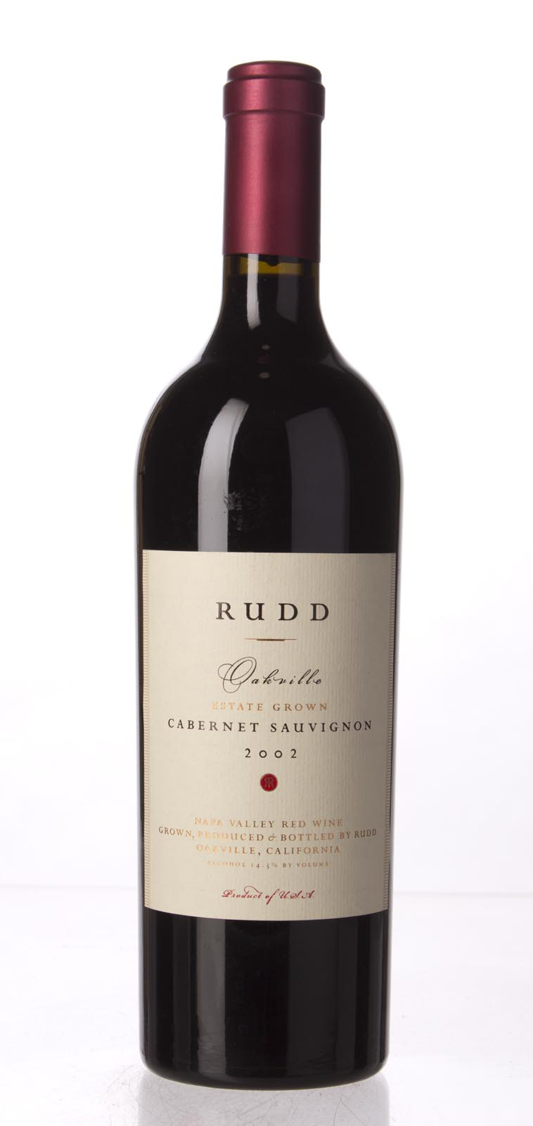 Rudd Estate Cabernet Sauvignon Oakville Estate Grown 2002, 750mL (WA95, WS94) from The BPW - Merchants of rare and fine wines.