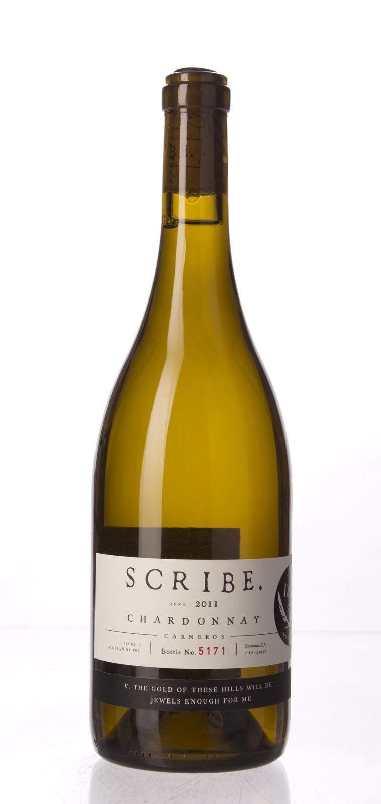 Scribe Chardonnay Carneros 2011, 750mL () from The BPW - Merchants of rare and fine wines.