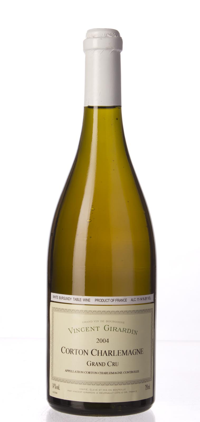 Vincent Girardin Corton Charlemagne 2004, 750mL (ST93+, WS93) from The BPW - Merchants of rare and fine wines.