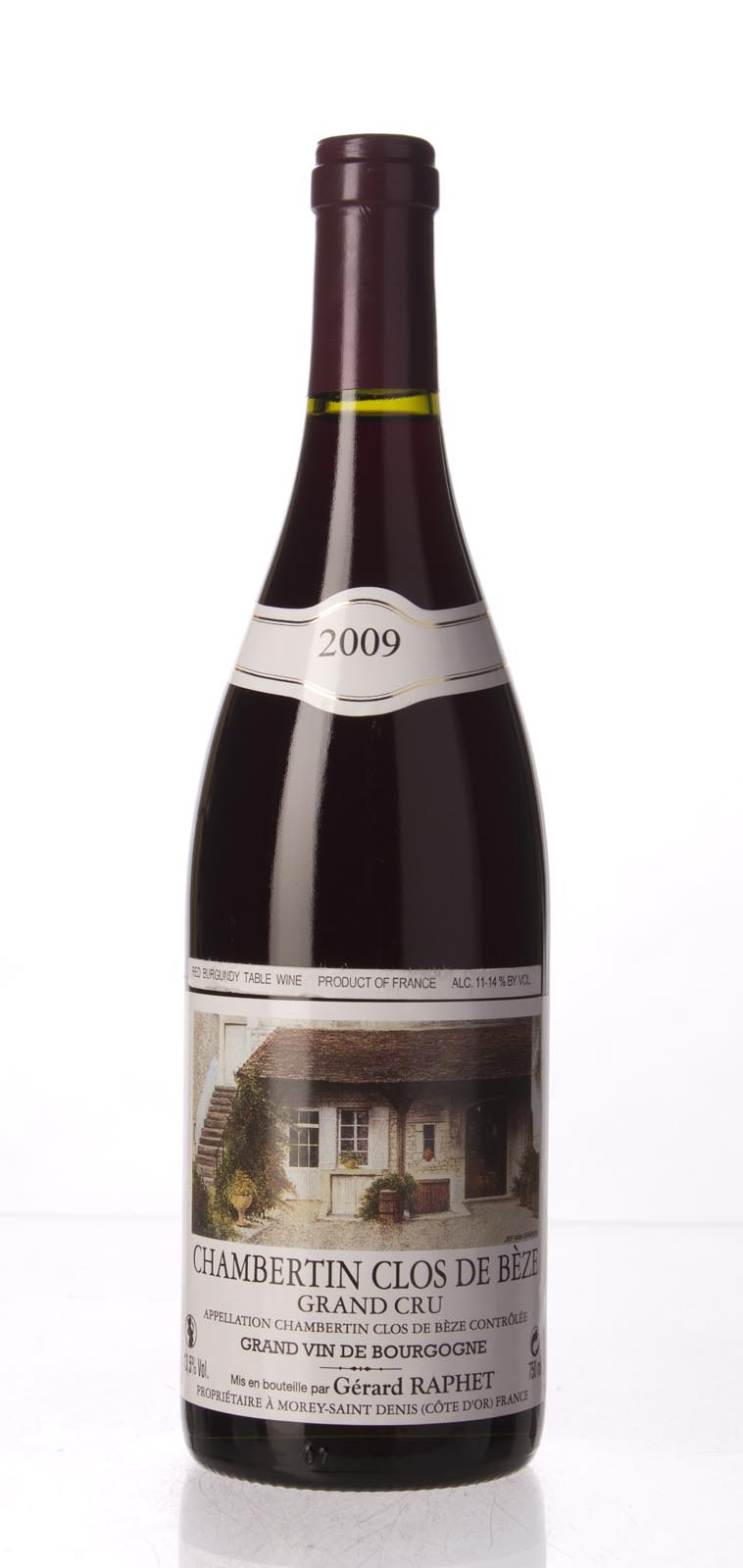 Domaine Raphet Chambertin Clos de Beze 2009, 750mL () from The BPW - Merchants of rare and fine wines.