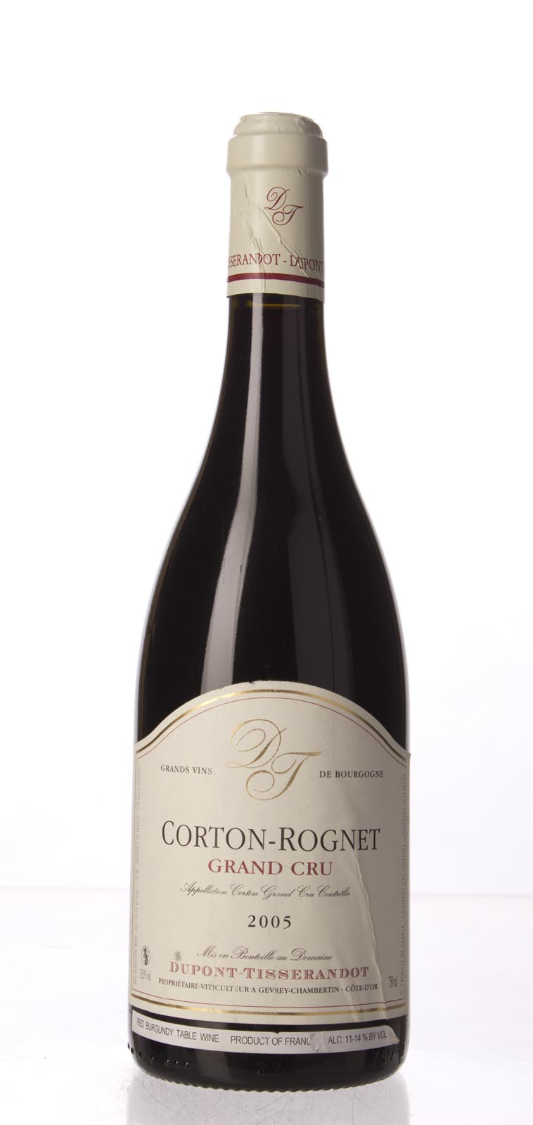 Dupont Tisserandot Corton Rognets 2005, 750mL () from The BPW - Merchants of rare and fine wines.