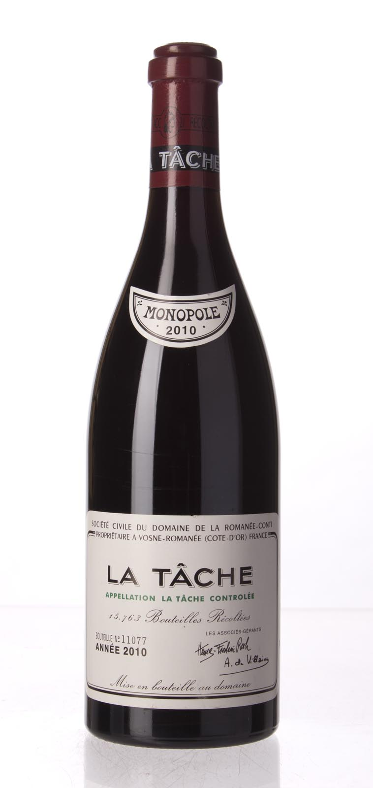 Domaine de La Romanee Conti la Tache 2010, 750mL (BH98, WA96-98, ST97) from The BPW - Merchants of rare and fine wines.
